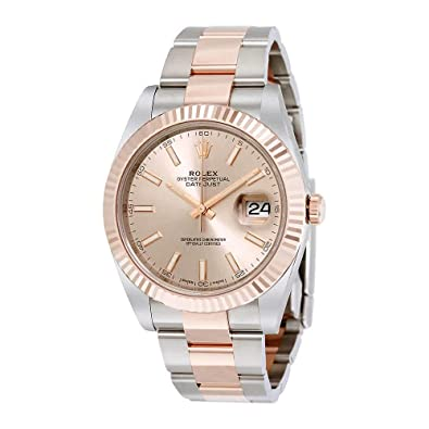 20f2c53f772fe Image Unavailable. Image not available for. Color: Rolex Datejust 41  Sundust Dial Steel and 18K Everose ...