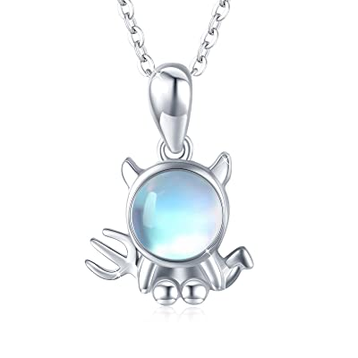 Sterling silver round necklace with rose cubic sirconia Cute small pendant for women Elven pendant Present jewelry for wife Gift for sister.