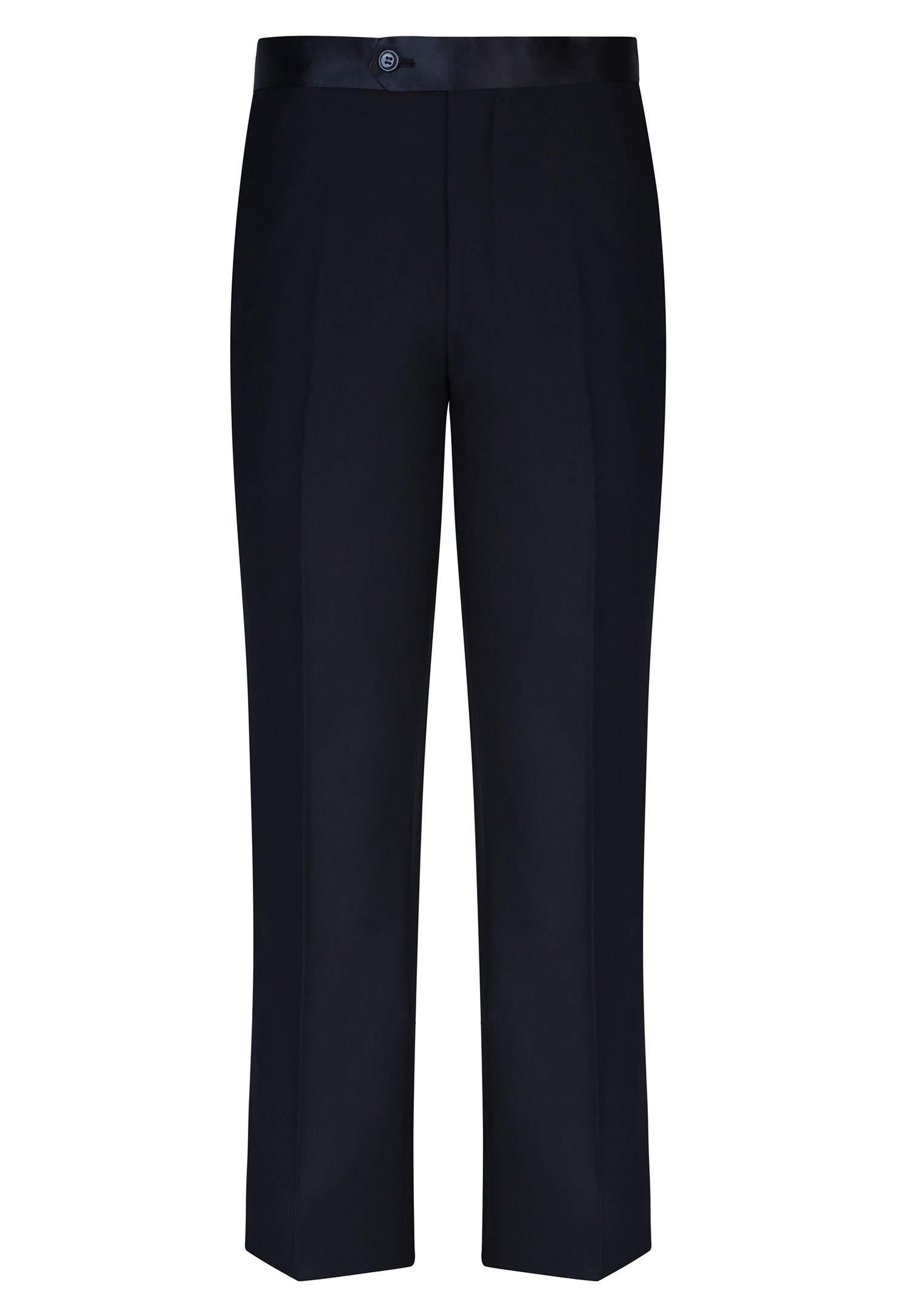 S.H. Churchill & Co. Black Tuxedo Pants - Formal Trousers for Men, Size 38 Black by S.H. Churchill & Co.