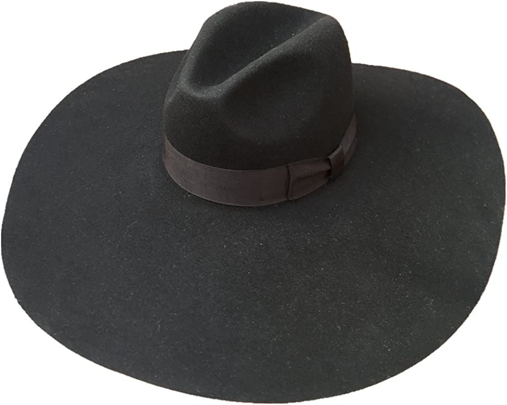 fur felt fedora hat Woman fedora hat women/'s black fedora hat wide brim women black fedora hat oversized fedora wide brim fedora hat