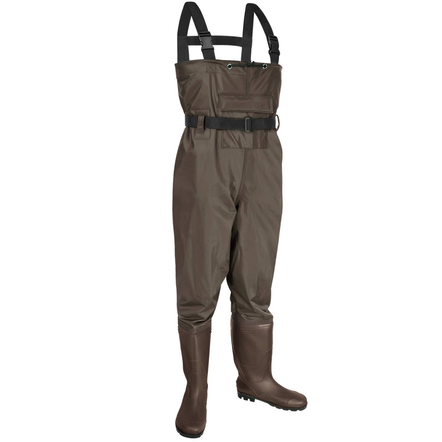 YOHTON Chest Wader, 2-Ply Nylon PVC Waterproof Fishing Hunting Waders for Men and Women