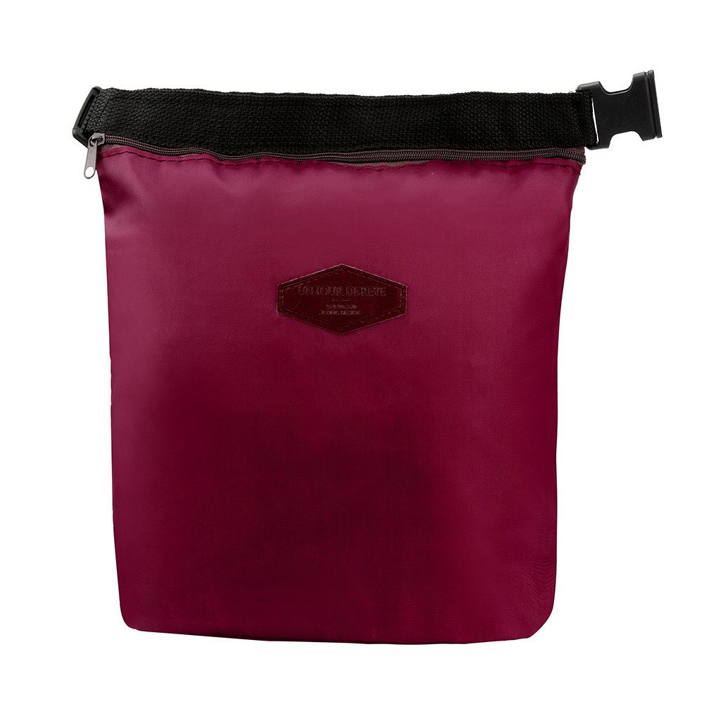 HighlifeS Lunch Bag Waterproof Thermal Fashion Cooler Insulated Lunch Box More Colors Portable Tote Storage Picnic Bags (Wine Red)
