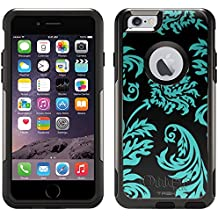 Otterbox Commuter Case for Apple iPhone 6 - Damask Vintage Turquoise on Black