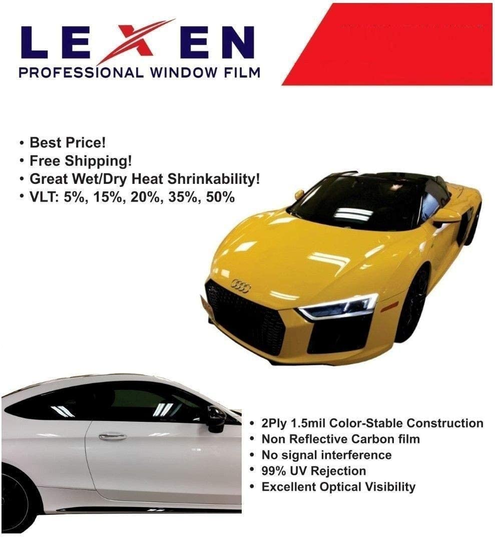 "Lexen 2Ply Premium Carbon 20/""X10/' Roll Window Tint Film Car Choose Tint Shade /%"