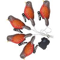 SOLUSTRE Kuş Dekoratif Şerit Işıklar 3D Akrilik Kuş Heykelcik Işığı Klipsli Pille Çalışır Kendin Yap Ev Yeni Yıl Parti…