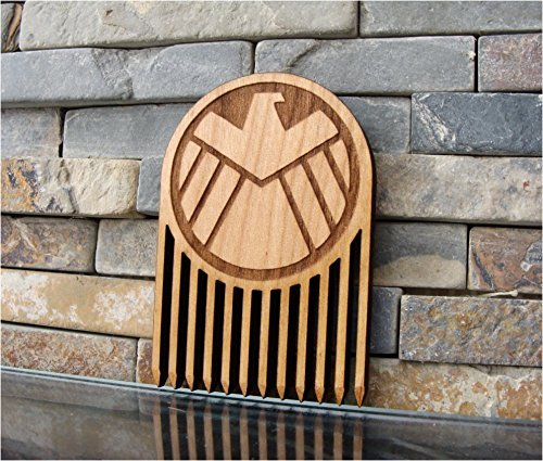 Wood Beard Comb // Agents of SHIELD Inspired.