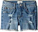 Hudson Kids Baby Girl's 3'' Fray Hem Shorts In Illustrion Blue (Toddler/Little Kids) Illustrion Blue 4 US Little Kid
