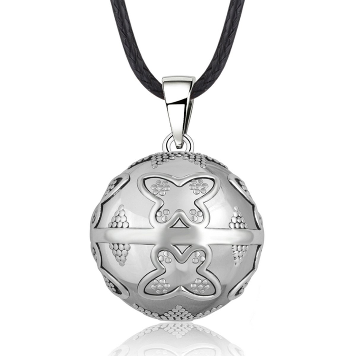 EUDORA Harmony Bola Necklace butterfly Chime Pendant Musical Bola, 30'' Rope & Pregnancy 45'' Cord
