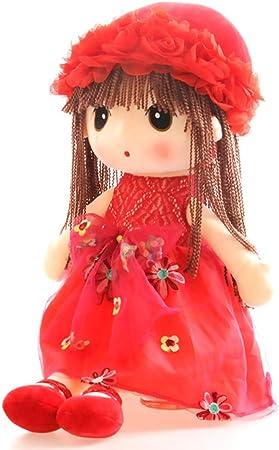 18 Inch Tvoip Tulle Skirt Princess Plush Toy Phial Dolls Children Girls Doll Cute Little Girl Dolls Red