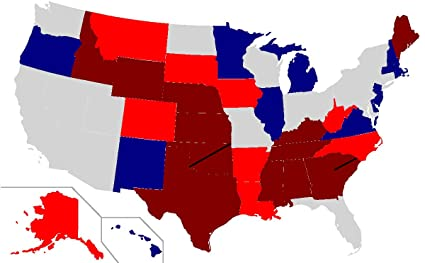 Amazon.com: Home Comforts Laminated Map - United States Elections ...