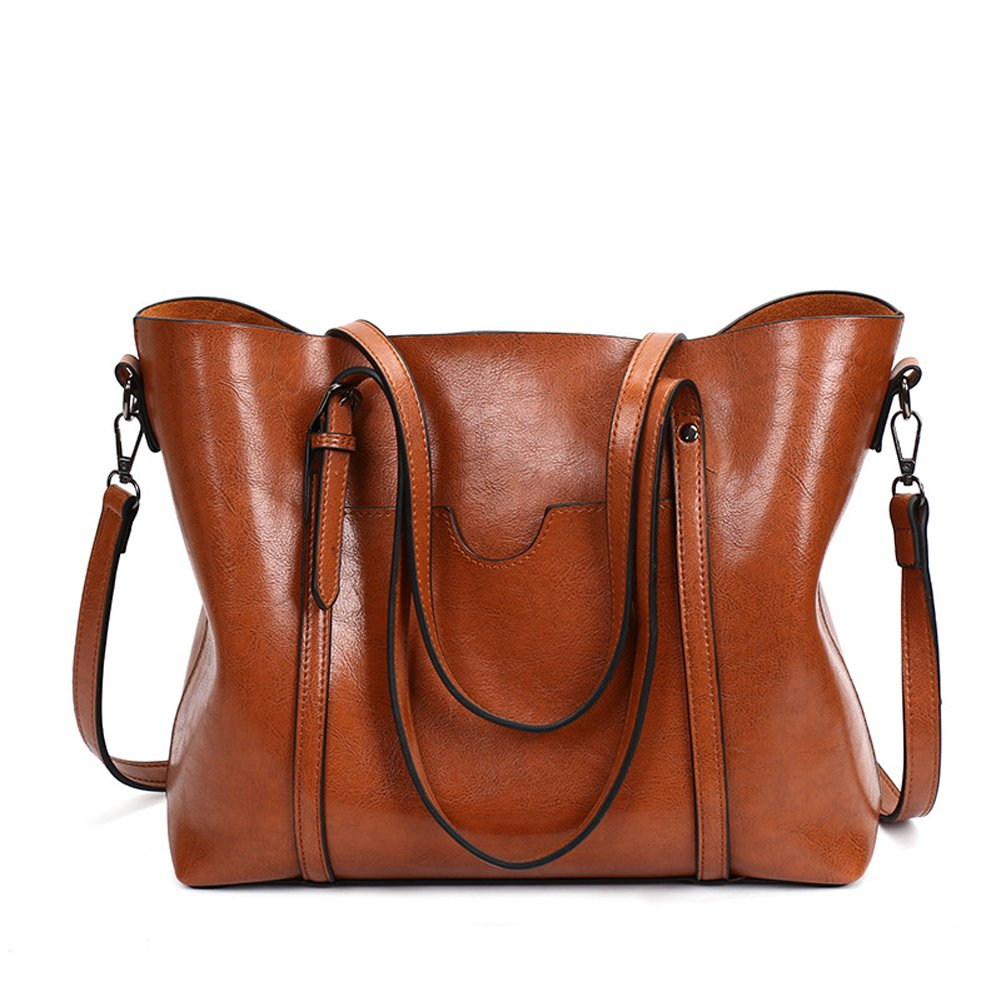 Brown Women Lightweight Leather Backpack Black Purse Versatile Classic Fashion PU Leather