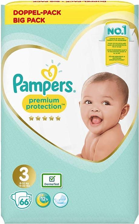 Pampers - Pañales para bebé (tamaño 3, 66 por paquete): Amazon.es: Bebé