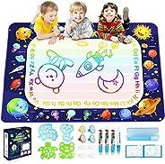 Betheaces Magic Doodle Drawing Mat - Extra Large Water Drawing Mat Toddler Toys Gifts Paint Writing Color Mat