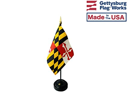 4x6 Maryland Stick Flag Table Staff Desk Table