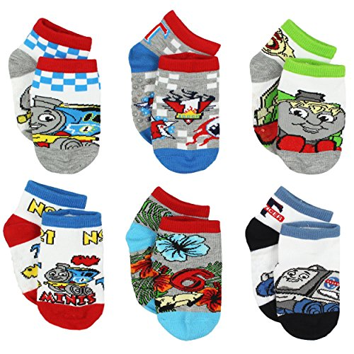 Thomas the Train & Friends Toddler Boys 6 pack Gripper Socks