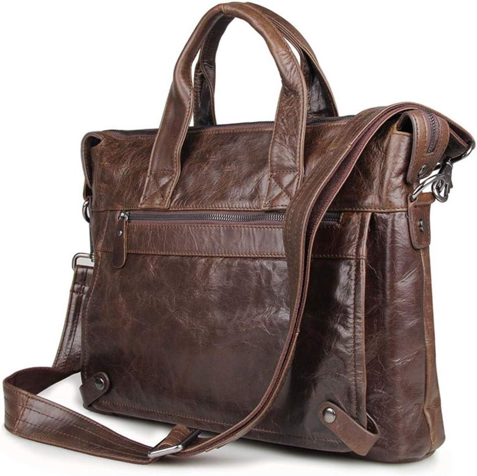 Wecnday-Home Work Bag Laptop Messenger Bag Office Briefcase College Bag for Work Travel College Top Handle Handbag School Satchel Black for Business Work Office (Color : Chocolate)