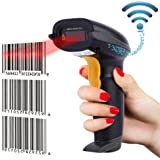 NADAMOO 433Mhz Wireless Barcode Scanner 328 Feet Transmission Distance USB Cordless 1D Laser Automatic Barcode Reader Handhold Bar Code Scanner with USB Receiver for Store,Supermarket,Warehouse