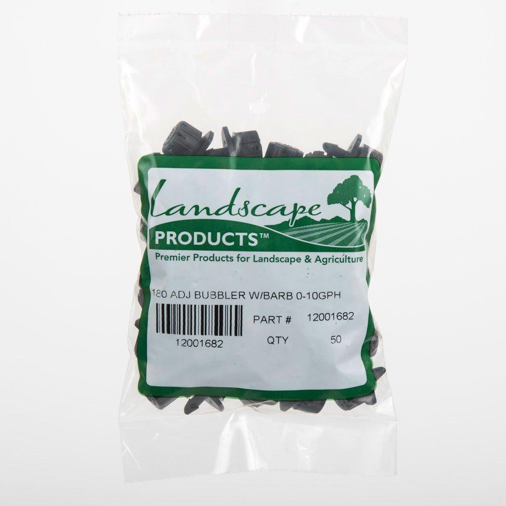 LANDSCAPE PRODUCTS PREMIER PRODUCTS FOR LANDSCAPE /& AGRICULTURE 180 Degree Adjustable Drip Bubbler Bag of 50 Barbed Connection