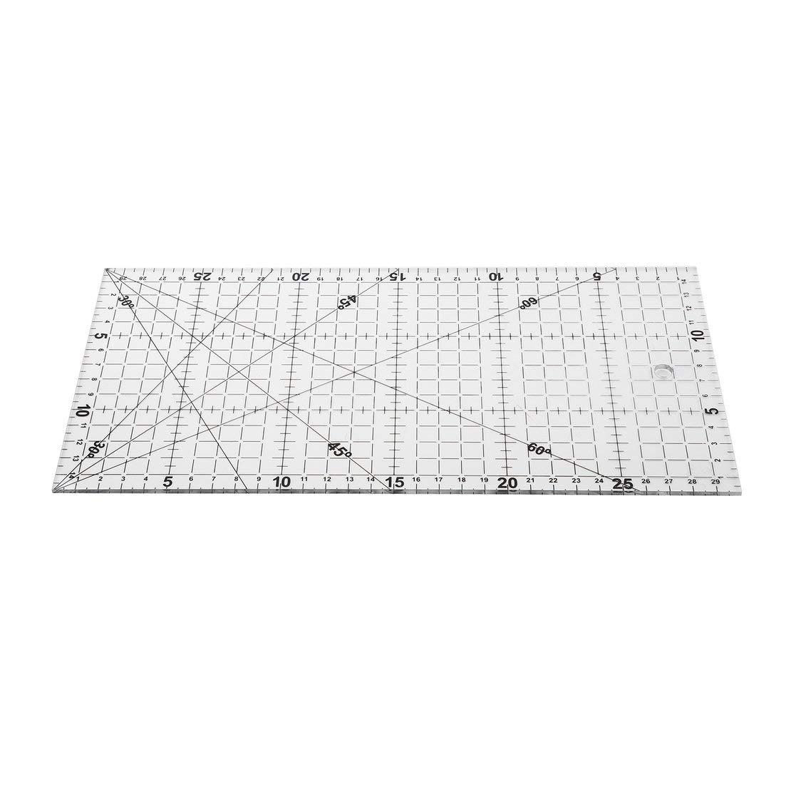 30 Transparente 15cm Herramientas para acolchar Fabricaci/ón de ropa Patchwork Regla Acr/ílico Escala Coser Herramientas de costura Costura de bricolaje Accesorios manuales