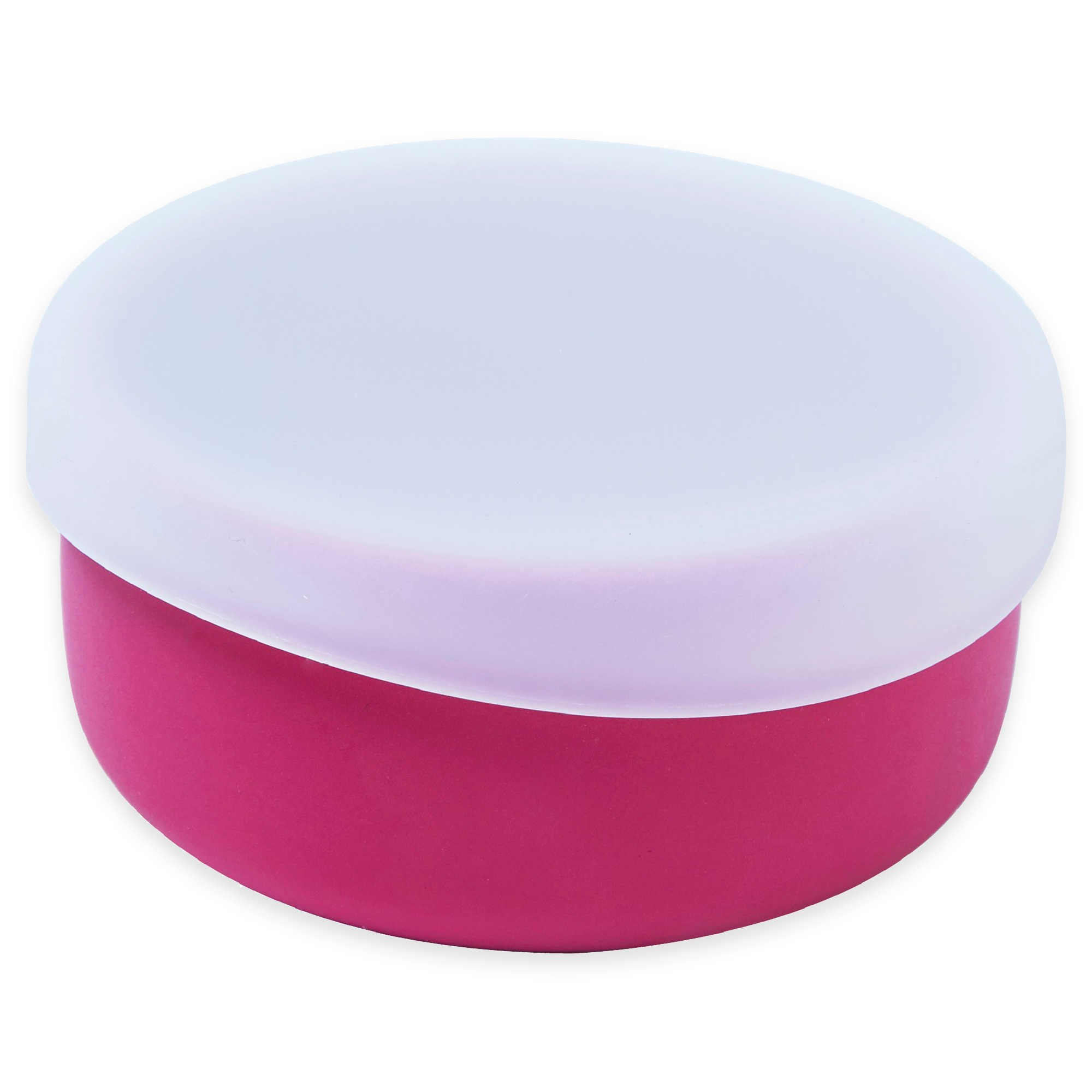 Modern Twist 4.85 oz. Silicone Bowl with Lid in Pink (3 Packs)