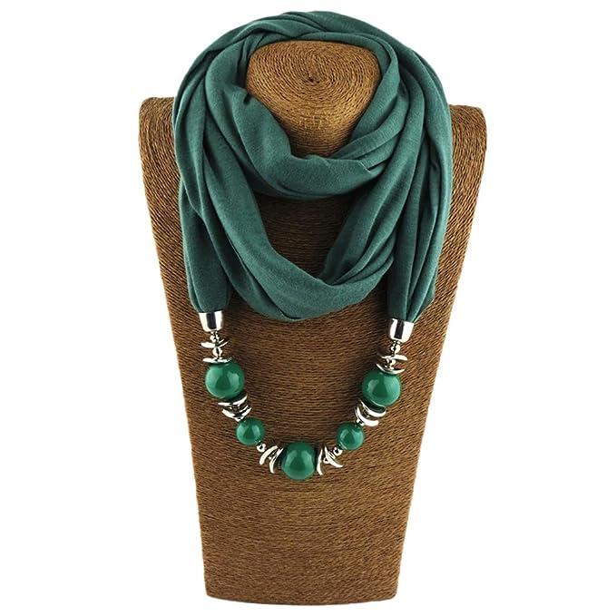 16 opinioni per Kofun Women Scarf, Womens Neckerchief Ring Scarf Necklaces Beads Scialle di