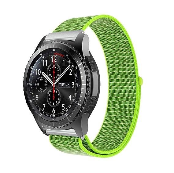Scpink Gear S3 Frontier Strap, Nylon Reloj de Pulsera con ...