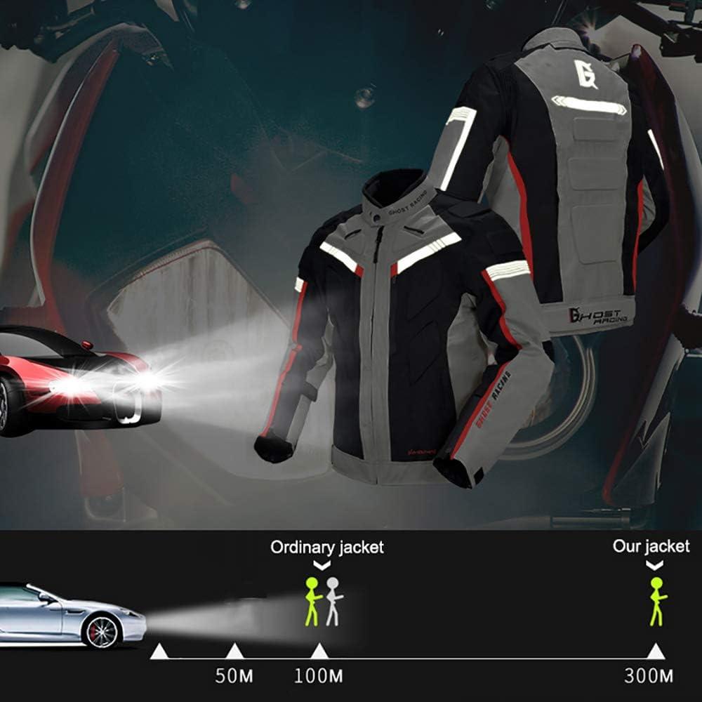 Ghost Motorradjacke Wasserdicht Winddicht Textil Fallschutz Bel/üftet Warm Bleiben R/üstung Motorrad Schutzkleidung
