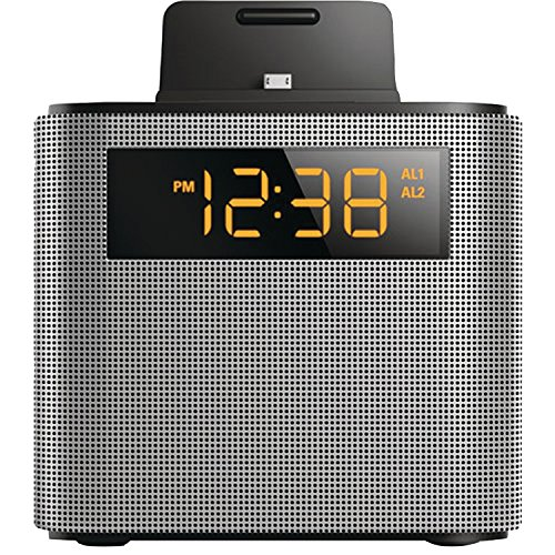 Philips Black Dual Alarm Bluetooth Clock Radio