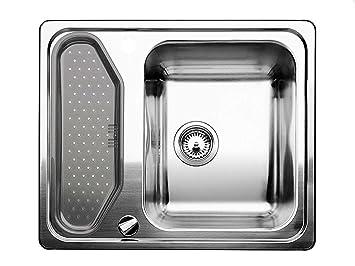 Spülbecken küche edelstahl  Blanco Classic 45 Einbau Edelstahl-Spüle Auflagespüle Küchen-Spüle ...
