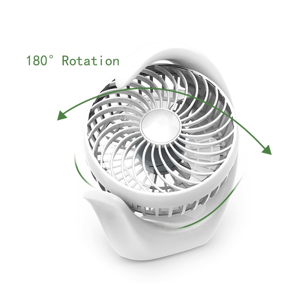 AceMining Rechargeable Battery Operated Fan with 3 speeds, Strong Wind, Long Battery life, Quiet Operation, Small usb Desk Fan, Portable battery powered fan, Cooling for Home, Office, Travel, Camping by AceMining (Image #4)