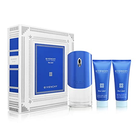 Givenchy Pour Homme Blue Label by Givenchy for Men 3 Piece Set Includes 3.3 oz Eau de Toilette Spray 2.5 oz After Shave Moisturizing Balm Alcohol-Free 2.5 oz Hair and Body Shower Gel
