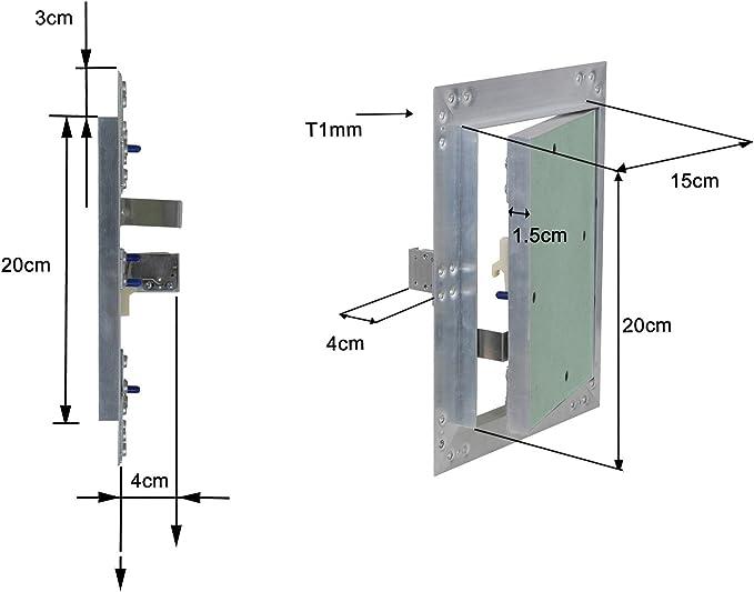 Puerta revisión Trampilla inspección marco aluminio 15x20cm Panel ...