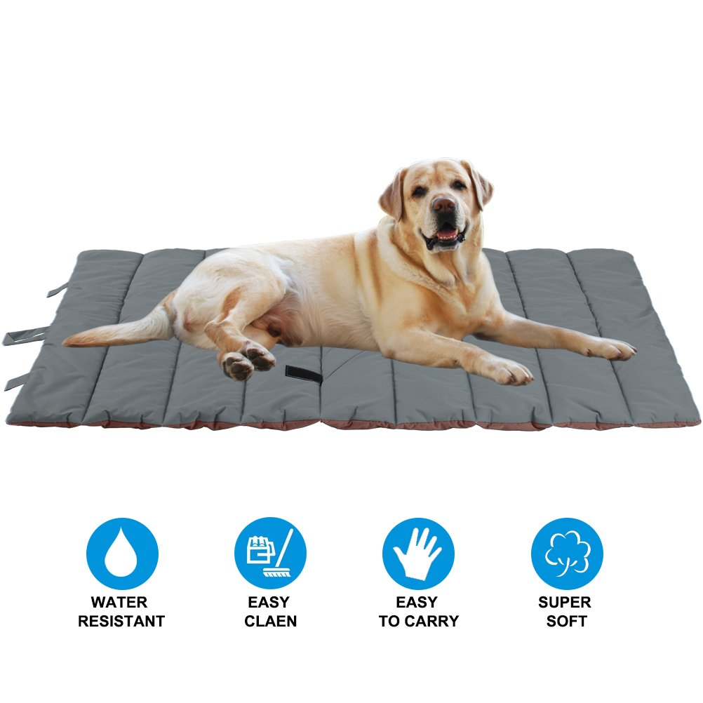 Waterproof Pet Bed Mats Cover for Cat & Dog Outdoor Cooling Brown Large