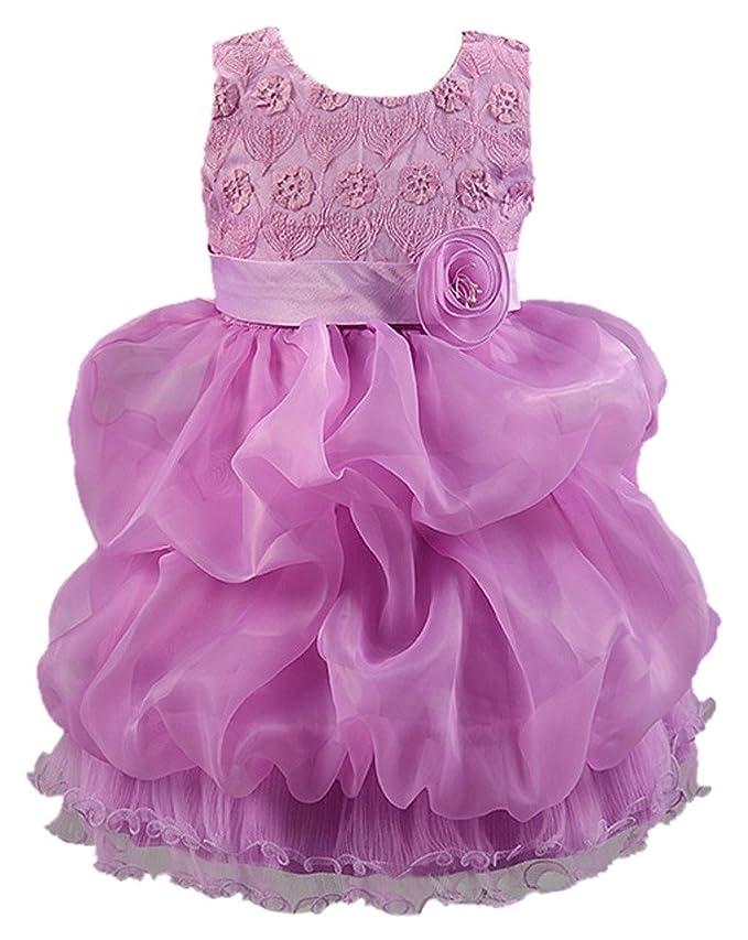 24 opinioni per La vogue-Vestito Bambina di Cotone Misto Vestito Fiore per Ballo e Festa