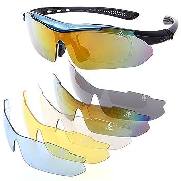 Gafas de Sol UV400 Polarizadas para Ciclismo Esqui Moto Deporte Azul