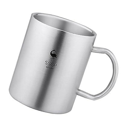 Baoblaze Copa para Café Té Leche Condensada Caliente Senderismo Accesorios de Cocina Cómodo