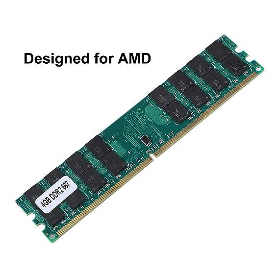 Vbestlife Memoria DDR2 4GB RAM de Gran Capacidad, Tarjeta de Memoria 667MHz para Transmisión de Datos Sin Pérdida AMD.