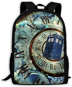 Doctor Dr Who Police Box School Backpacks Student Bookbag Casual Shoulder Daypack Travel Back Pack for Men Women Teen Boys Girls