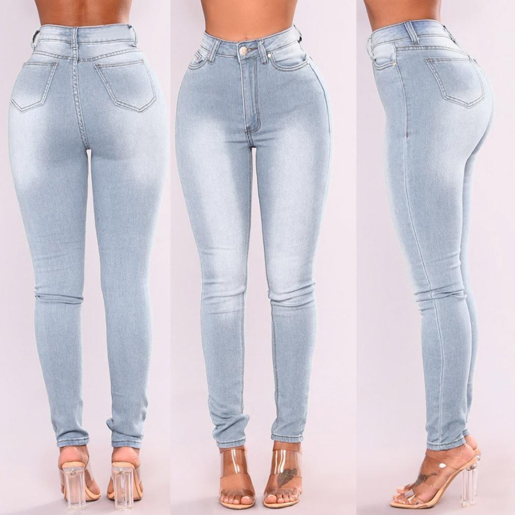 34d64f5437b Hattfart Skinny Jeans for Women Distressed Stretch Curvy Butt Lifting Denim  Pants Leggings at Amazon Women's Jeans store