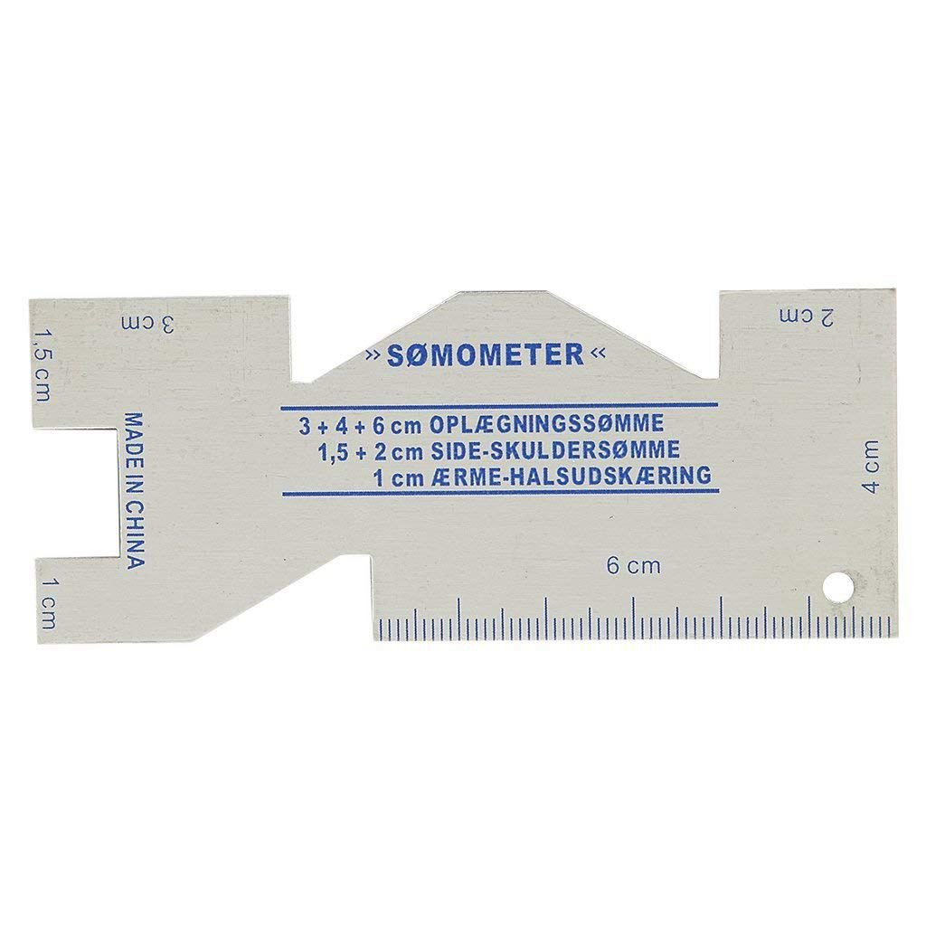 SODIAL metallo Somometer cucitura Righelli misurare manometro quilting per cucire mestiere