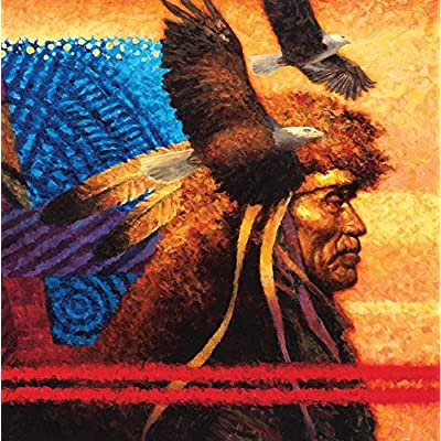 Ceaco Native American Sunset - Tapestry Puzzle (550 Piece): Toys & Games