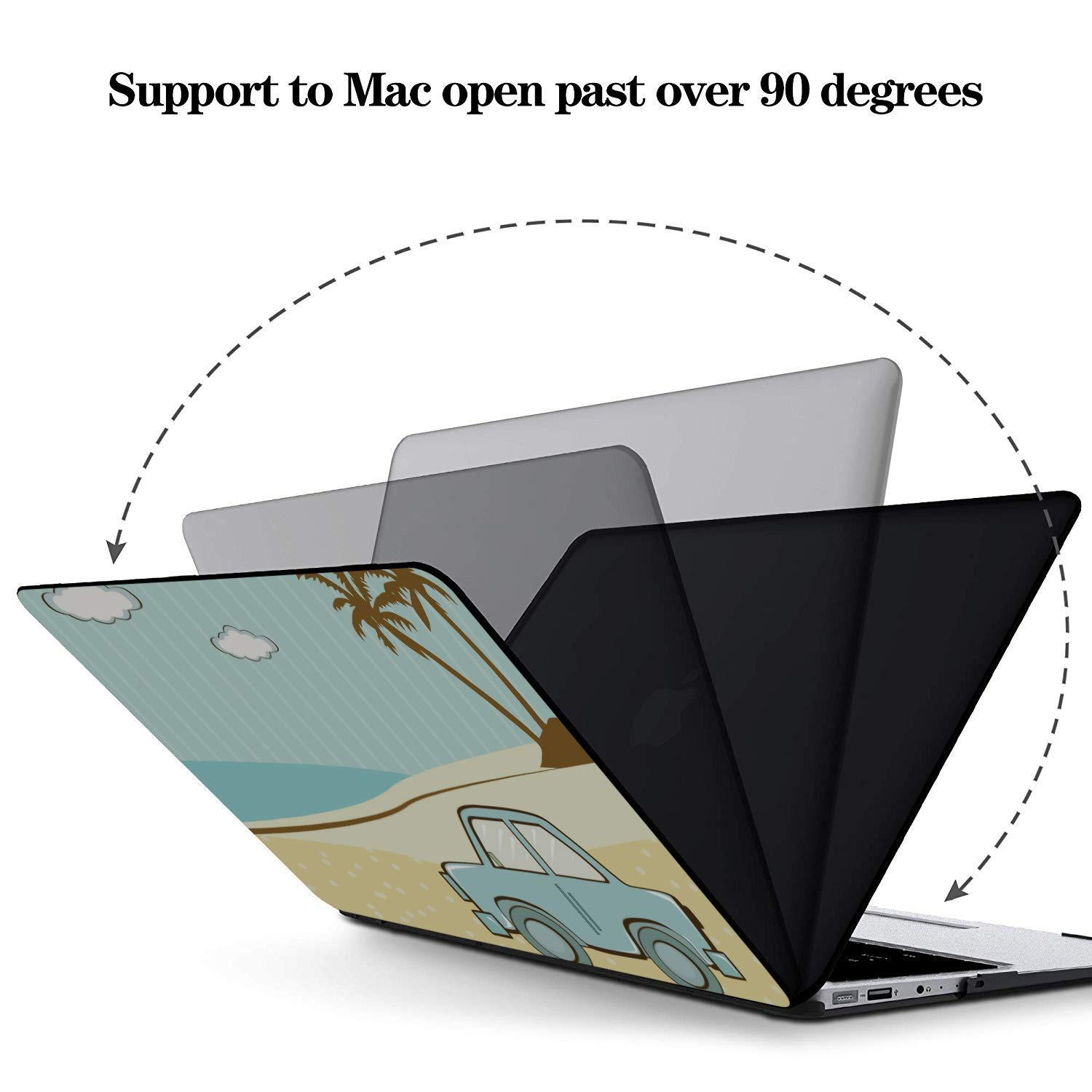 13inch MacBook Air Case Summer Fashion Sour Fruit Pineapple Plastic Hard Shell Compatible Mac Air 11 Pro 13 15 MacBook Pro Hard Cover Protection for MacBook 2016-2019 Version