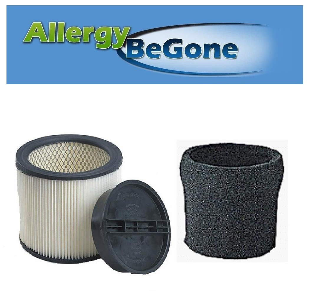 Shop Vac Complete Filter Kit- Compare with Shopvac Part# 9030400 Main Filter, 3008000 Retaining Ring, 9058500 Foam Prefilter