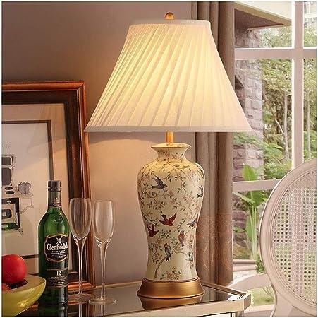 lampara mesa American Retro lámpara de mesa Nuevo chino Pastoral ...