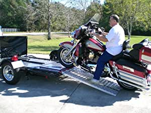 Aluminum Ramp 4 ft. USA - Motorcycles Onto Trailers - 5244 MCDR Ramp