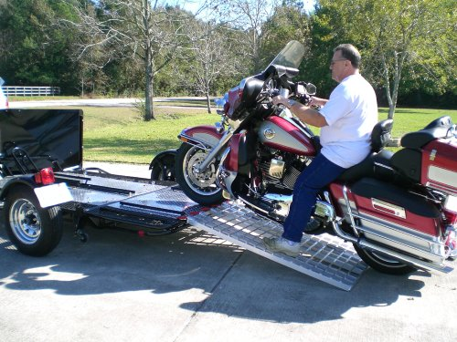 Aluminum Ramp 4 ft. USA - Motorcycles on to Trailers - 5244 MCDR Ramp
