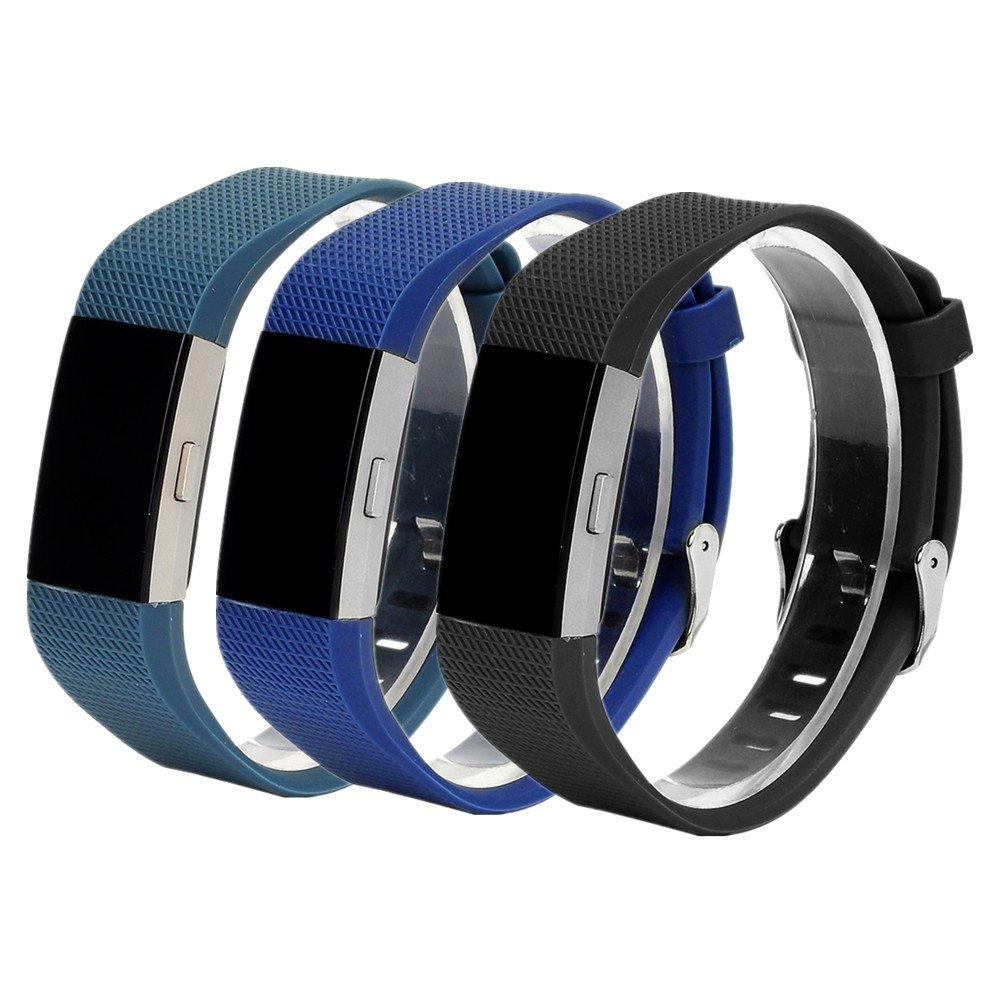 WEINISITE Pulsera de Silicona Correa para Fitbit Charge 2