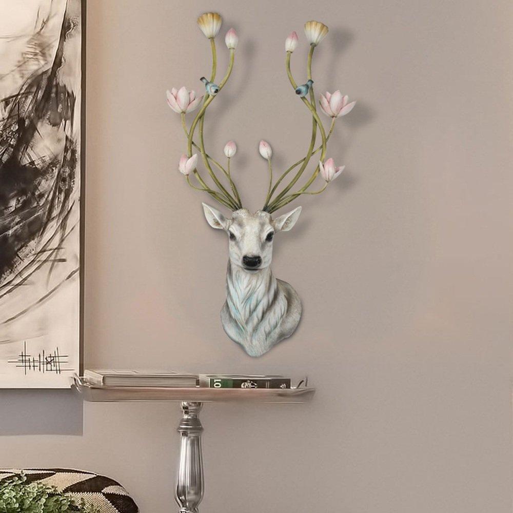 Amerikanischer Hirschkopf Wanddekoration Wohnzimmer Eingang Simulation des Tierkopfes Wanddekoration (Farbe, Größe optional) ( farbe : B )