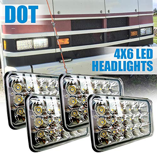 """DOT 4X6"""" Rectagular LED Sealed Beam Headlights Hi/Lo for sale  Delivered anywhere in USA"""