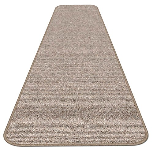 House, Home and More Skid-resistant Carpet Runner - Pebble Beige - 12 Ft. X 27 In. - Many Other Sizes to Choose From